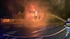 Ostrów Mazowiecka - Strażacy z Ochotniczej Straży Pożarnej w Broku zos