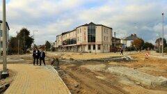 Ostrów Mazowiecka - Budowa ronda przy sądzie nadal trwa. Jest to jedno