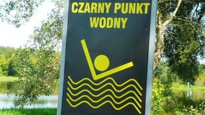 Ostrów Mazowiecka - Tablice ostrzegawcze tzw. czarne punkty wodne umieszczane są