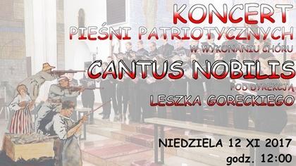 Ostrów Mazowiecka - Koncert pieśni patriotycznych w wykonaniu chóru Cantus Nobil