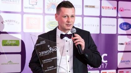 Ostrów Mazowiecka - Marcin Truszkowski podczas gali Sportowiec Roku 2017 w regio