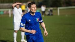 Sport: Ostrów Mazowiecka - Piłkarze MKS Małkinia w spotkaniu dwudziestej drug