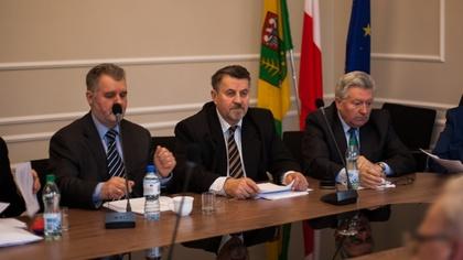 Ostrów Mazowiecka - W sali konferencyjnej Starostwa Powiatowego w Ostrowi Mazowi