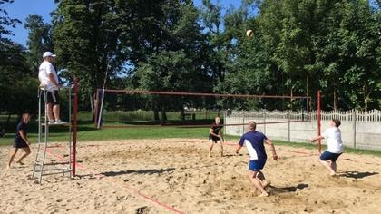 Ostrów Mazowiecka - W ubiegłą sobotę na boisku siatkówki plażowej przy ul. Trębi